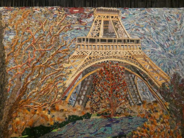 art quilt of Eiffel Tower