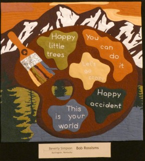 bob ross art quilt by beverly simpson