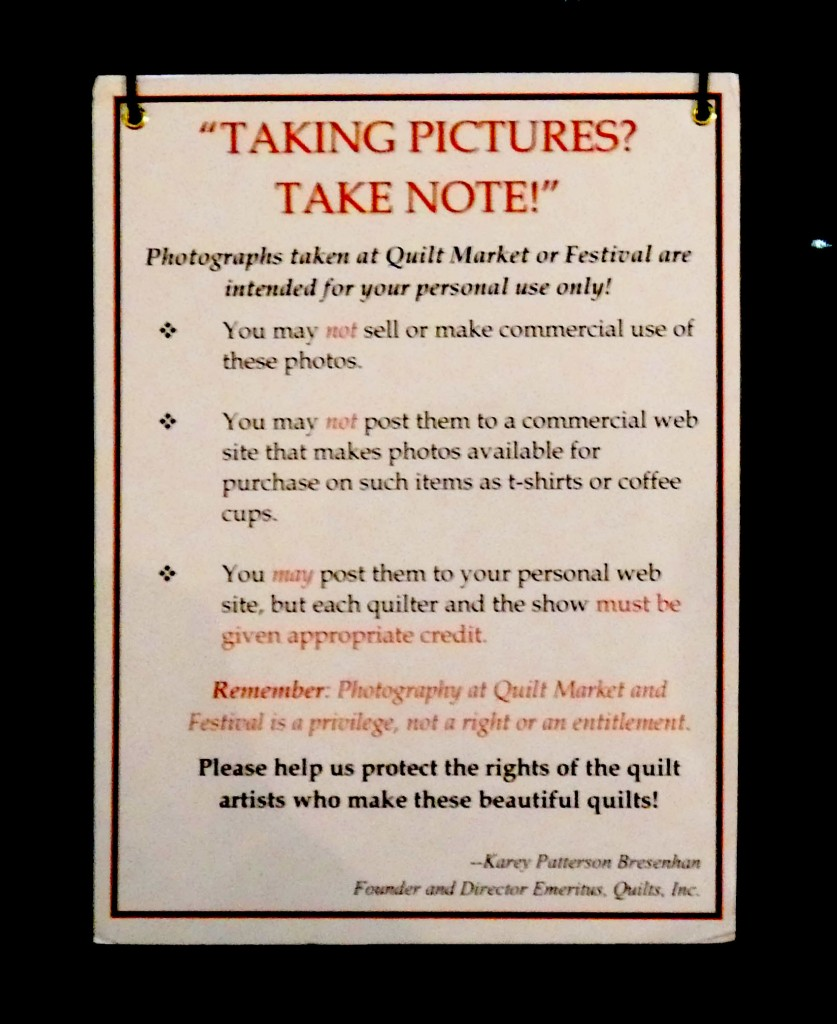 sign explaining permitted photo practice