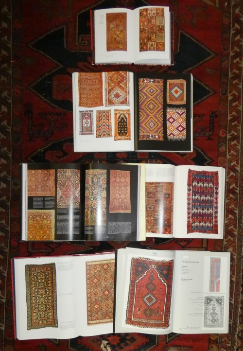book pages showing oriental carpets