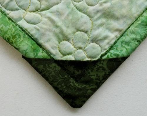 corner on lap quilt