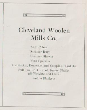 Woolen mill ad.