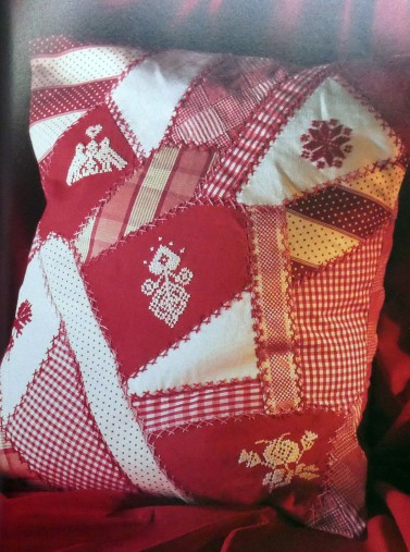 Red embroidery patchwork from Janet Haigh's book.