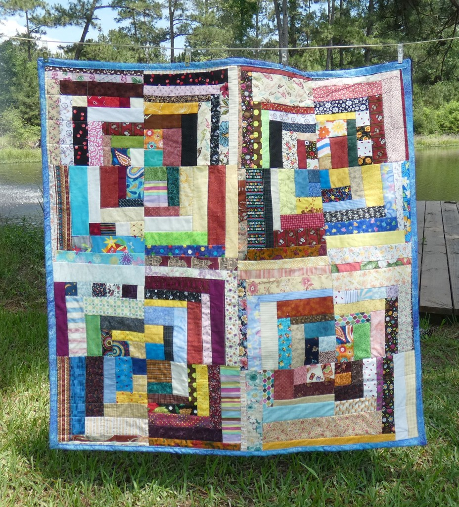 lap quilt made of various scraps
