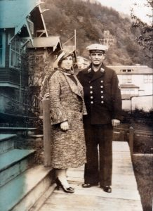 woman and sailor, Alaska, 1930s