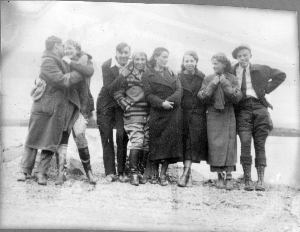 group of young adults in Alaska, 1935